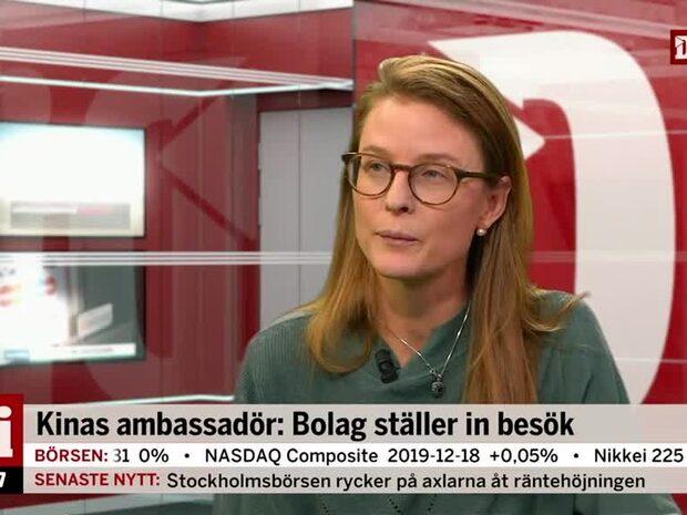 Kinas ambassadör: Bolag ställer in besök