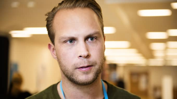 Rasmus Törnblom, ordförande Muf. Foto: Anna-Karin Nilsson