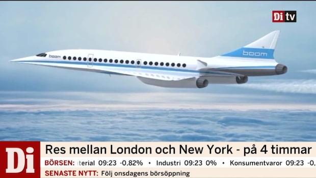 Res mellan London och New York på 4 timmar