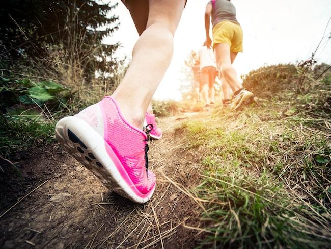 Älska backar - de ger dig perfekt träning och gör din promenad så mycket effektiva.