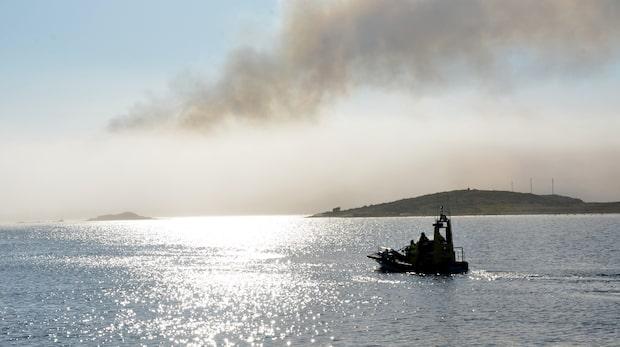 """Storbrand på skärgårdsö: """"Kaotiskt"""""""