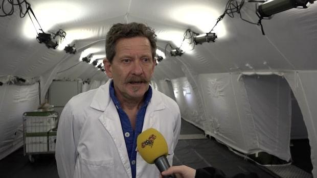 Göteborgs första fältsjukhus beräknas stå färdigt på fredag