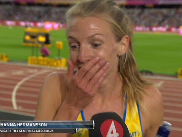 """Här får Hermansson glädjebeskedet: """"Va? Oh my god!"""""""