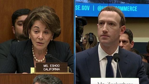 Mark Zuckerbergs andra utfrågning på 2 minuter