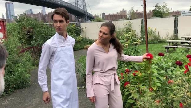 Här slår Kronprinsessan Victoria två flugor i en smäll – i New York