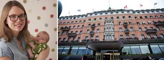 När Anna Lavfors skulle amma sonen Nils på Grand Hôtel kom en servitör och täckte över dem med en servett.