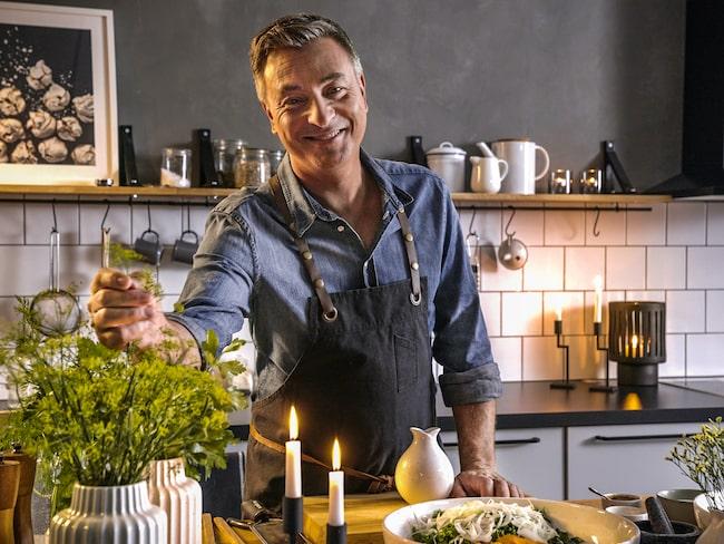 Tareq Taylor driver restaurangen Kockeriet i Malmö. Nu har han ett samarbete med Hemtex.