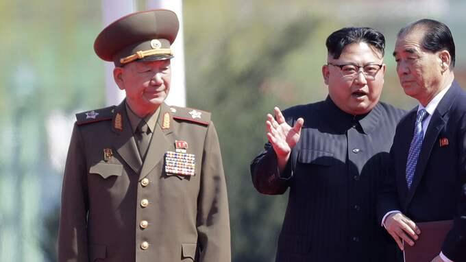 Nordkoreas utrikesdepartement menar att USA:s president ber om ett kärnvapenkrig. Foto: WONG MAYE-E / AP TT NYHETSBYRÅN