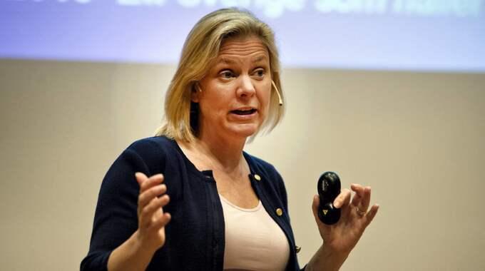 Finansminister Magdalena Andersson presenterar i dag vårbudgeten. Foto: Bobbo Lauhage / ALL OVER PRESS KAMERAPRESS
