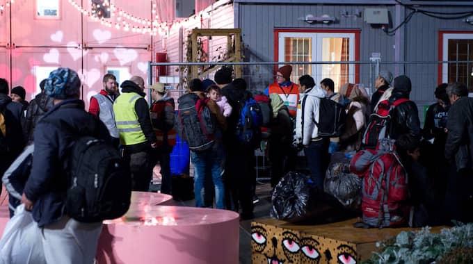 Människor på flykt. Foto: Fritz Schibli / EXPRESSEN/KVP