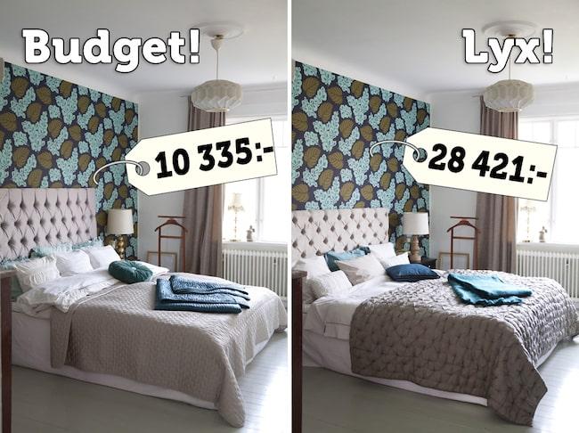 Lyx eller budget i fina sovrummen u2013 gissa! Leva& bo Expressen Leva& bo