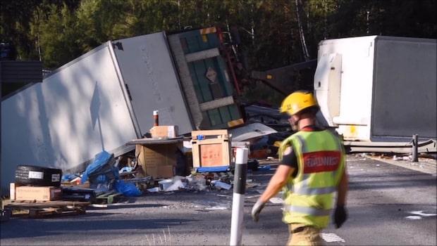 Olycka i Katrineholm - riksväg 55 helt avstängd