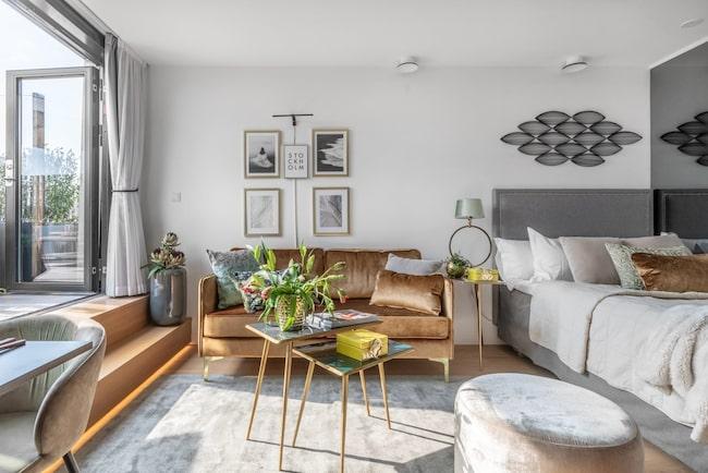 Utgångspriset för lägenheten är drygt 201 000 kronor per kvadratmeter.