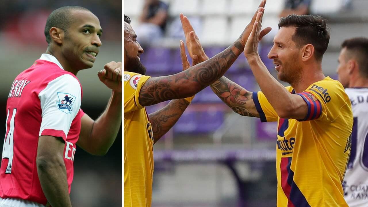 """Messi är historisk –  gjorde """"en Henry"""""""