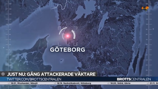Gäng attackerade väktare