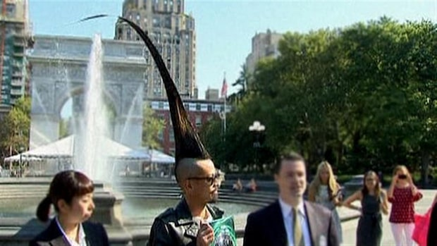 Han har världens högsta mohawk-frisyr