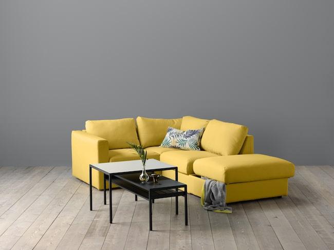 Byggstenarna på VIMLE kombinerar man själv och bygger upp sin personliga version av soffan.