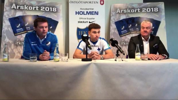 Här presenteras Jordan Larsson av IFK Norrköping