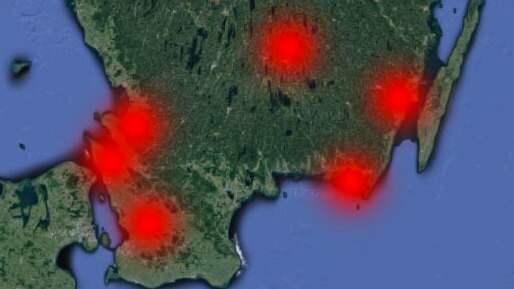Under natten har det varit inbrott på flera platser i södra Sverige. Foto: Google maps