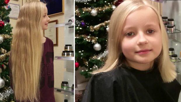 Ida, 9, skänker sitt hår till cancersjuka