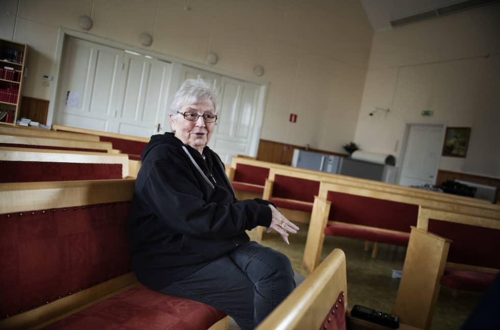 """""""De borde inte finnas"""", säger Tora Larsson som bor i Junsele om högerextrema aktivister. Foto: Anna-Karin Nilsson / ANNA-KARIN NILSSON EXPRESSEN"""