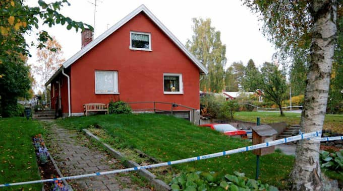 Huset som krigsveteranen enligt misstankarna ville komma över – genom att mörda. Foto: POLISEN