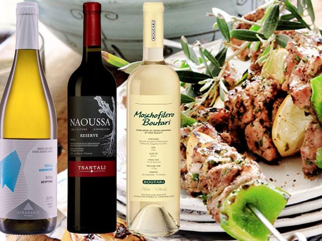 Grekisk mat plus grekiskt vin gör ihop!