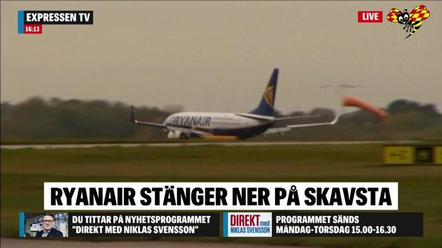 Viggo Cavling om nyheten att Ryanair stänger ner på Skavsta