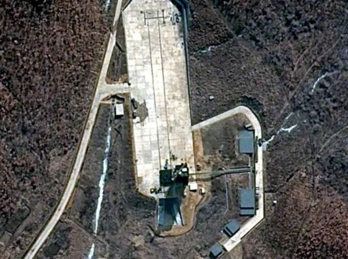 Satellitbilden visar den nordkoreanska aktiviteten.