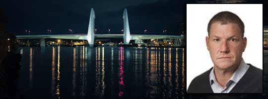 Här är bron som Kent Folkesson protesterar mot. Foto: TENJIN VISUAL
