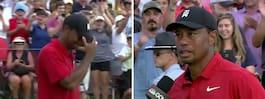 Woods tårar efter den  första segern på fem år