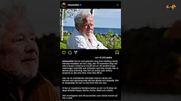 Här är några reaktioner på Sven Wollters död