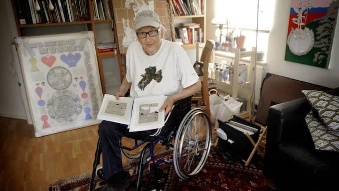 En av få svenska konstnärer sprungna ur 60-talets hippie-kultur har hyllats som Sture på den internationella konstscenen, skriver Olle Berggren. Foto: CHRISTER WAHLGREN