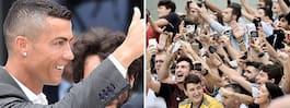 Fansen i extas när Ronaldo anlände