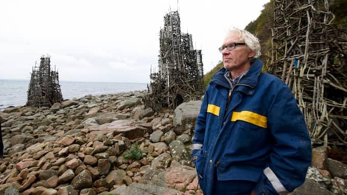 Lars Vilks vid Nimis 2015. Foto: STEFAN LINDBLOM/HELSINGBORGS-BILD / STEFAN LINDBLOM/HELSINGBORGS-BIL