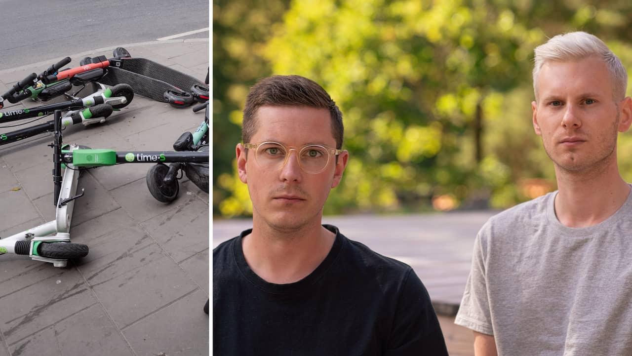 Andreas och Oscar tröttnade på elsparkcyklarna – startade app