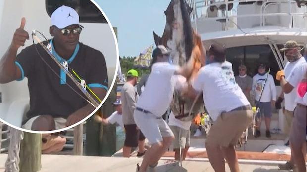 Michael Jordan drog in 200-kilos fisk i båten