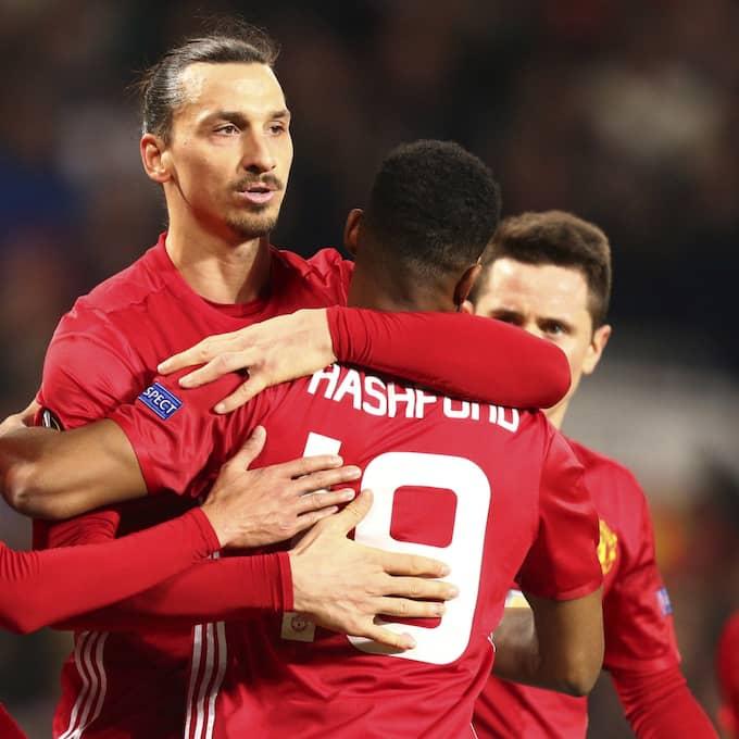 Zlatan låg bakom Uniteds seger. Foto: Dave Thompson / AP TT NYHETSBYRÅN