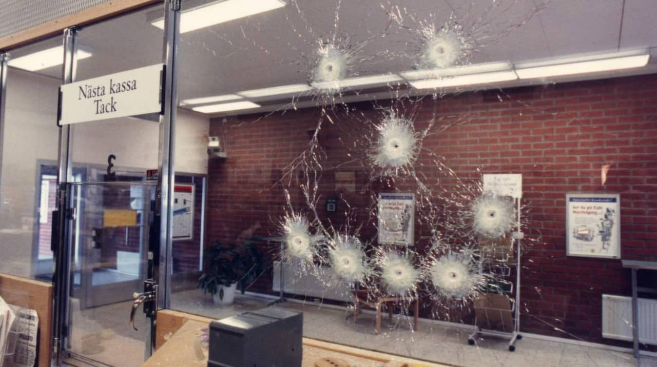 Bankran och bombhot skapade kaos i malmo
