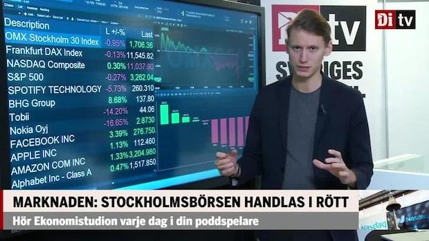 Marknaden: Stockholmsbörsen handlas i rött