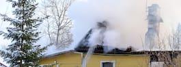 Villa stod i lågor –  utvecklad brand