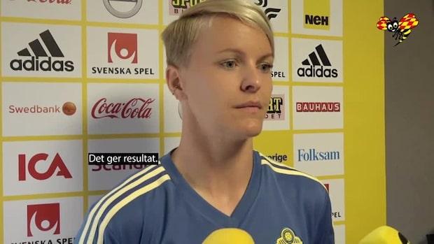 """Nilla Fischer: """"Vi har gjort det enormt bra taktiskt"""""""