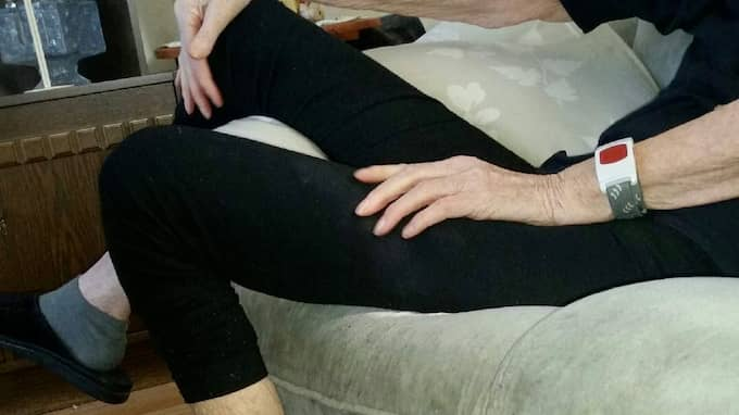 Karin vägde 42 kilo när hon dog. Under en månad köpte hemtjänsten hem fem kilo lösgodis till henne, godis som hon aldrig åt. Foto: Privat