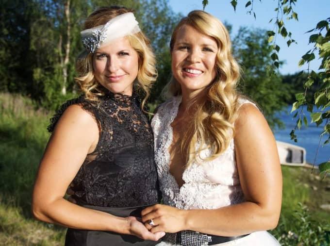 Anja Pärson gifte sig i Grubbe utanför Umeå med Filippa Rådin för några veckor sedan. Foto: Emil Nordin