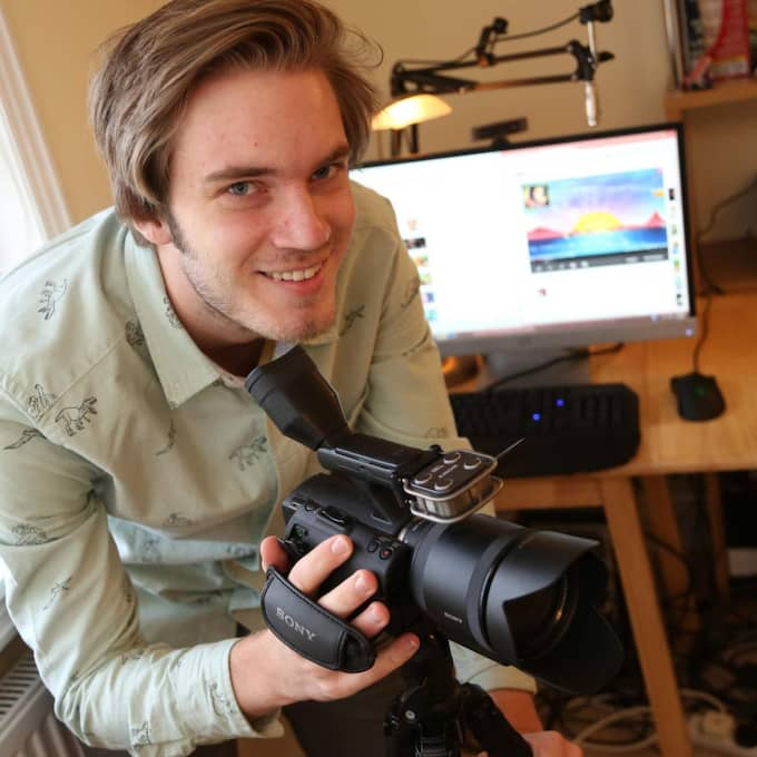 "GIGANT. Felix ""PewDiePie"" Kjellberg har drygt 37 miljoner följare på Youtube. Foto: Nigel Bowles"