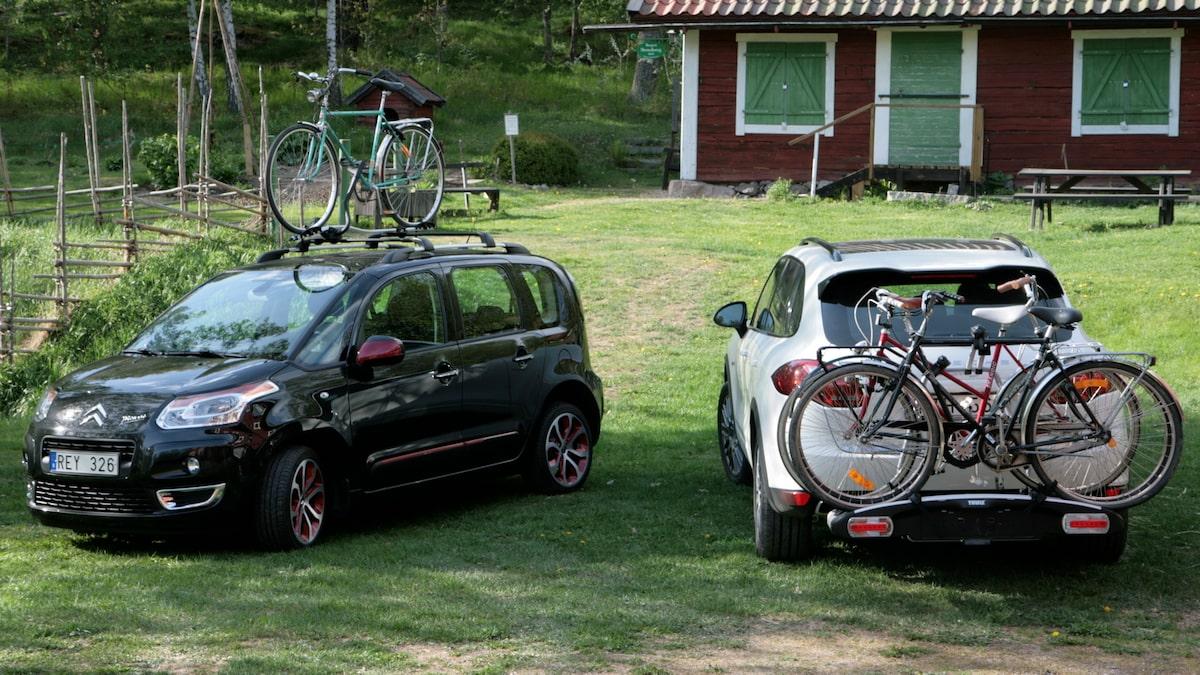 transportera cykel på bil