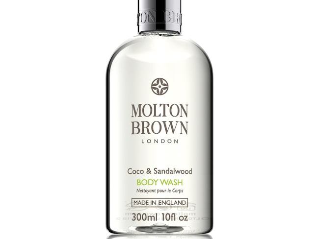 Coco and sandal body wash, 240 kronor/300 ml, Molton Brown.