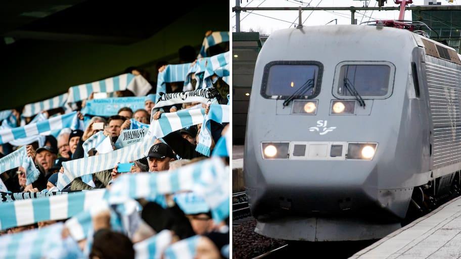 Flera hundra Malmö FF-fans planerade att ta tåget från Malmö