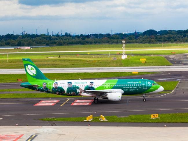 <span>Irlands nationella flygbolag, Aer Lingus, hamnar på tionde plats.<br></span>