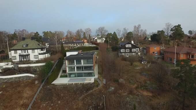Alexander Ernstbergers villa på Lidingö. Foto: MAGNUS OLOFSSON